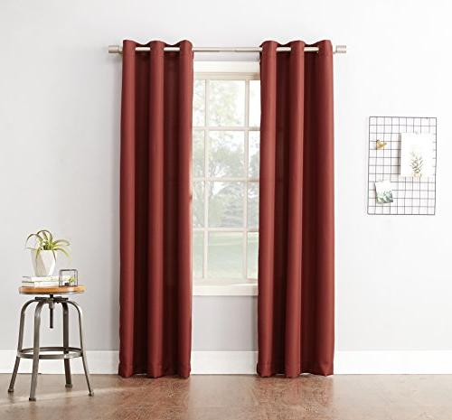 montego casual textured grommet curtain
