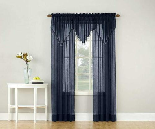 No. 918 Crushed Textured Sheer Pocket Curtain Panel,