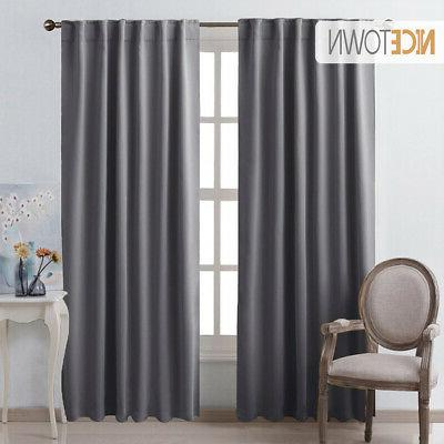 solid color blackout curtain thermal insulated rod