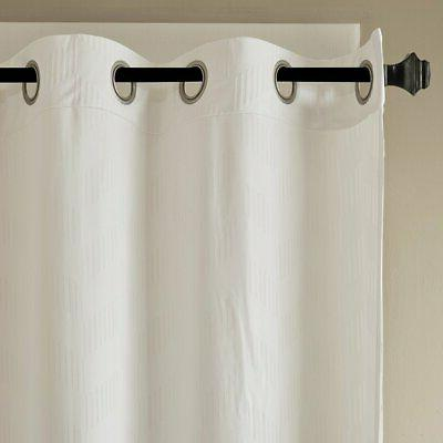 Two Madison Embossed Poly Panels, Ivory,