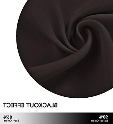Window Curtains Panels Toffee Brown Color 52 x 84