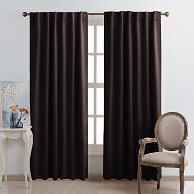 Window Blackout Panels Toffee Color 52 Inch 84