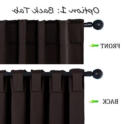 Window Curtains Panels - Brown Color 52 84