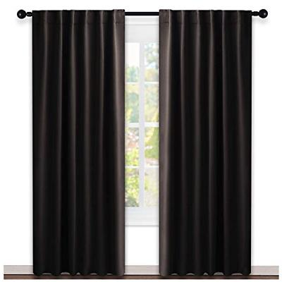 window curtains blackout drapery panels toffee brown