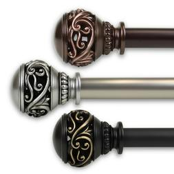 """Leesha Curtain Rod 1"""" OD #10-26 choose from 3 colors and 5 s"""
