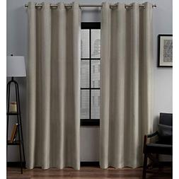 Exclusive Home Loha Linen Grommet Top Curtain Panel Pair, Na