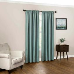 Lot fo 2 Eclipse Black Out Curtain Panels LUDLOW STREAM Rod