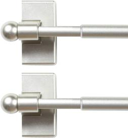 Magnetic Curtain Rods for Metal Doors Top and Bottom Set of