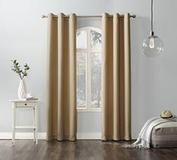 """No. 918 Montego Casual Textured Grommet Curtain Panel, 48"""" x"""