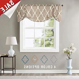 jinchan Moroccan Tile Print Curtain Valance for Bedroom Curt