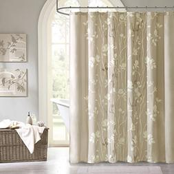 Madison Park Vaughn Floral Tree Taupe Shower Curtain, Floral