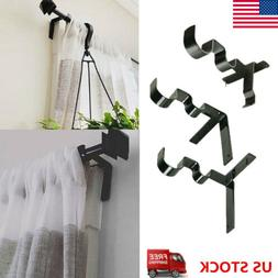 New Kwik Hang Double Center Support Curtain Rod Bracket Into
