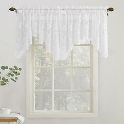 No. 918 Alison Floral Lace Sheer Rod Pocket Curtain Panel, 5