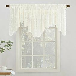 No. 918 Alison Floral Lace Sheer Rod Pocket Valance Curtain