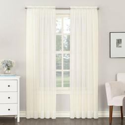 """No. 918 Emily Sheer Voile Rod Pocket  Curtain Panel 59 X 63"""""""