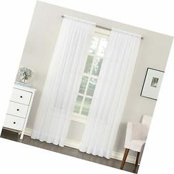"""No. 918 Emily Sheer Voile Rod Pocket Curtain Panel, 59"""" x 63"""
