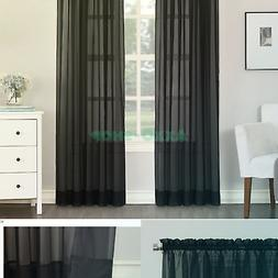"""No. 918 Emily Sheer Voile Rod Pocket Curtain Panel, 59"""" x 84"""