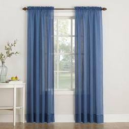 No. 918 Erica Crush Sheer Voile Curtain Panel, 51-Inch by 95