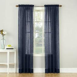 No. 918 Erica Crushed Voile Sheer Rod Pocket Curtain Panel,