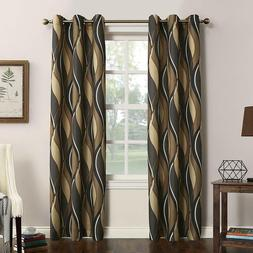 No. 918 Intersect Wave Print Casual Textured Curtain Panel 4