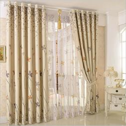 plant printed blackout curtain thermal insulated blinds