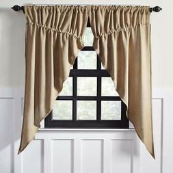rustic and lodge curtains vhc burlap chocolate