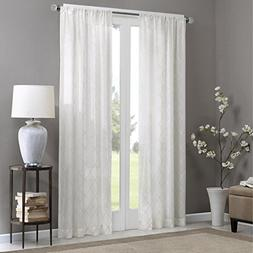 Madison Park Sheer Curtains For Bedroom, Transitional Fabric