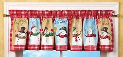 Collections Etc Festive Snow Time Country Snowman Window Val