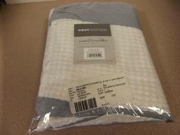 Madison Park Spa Waffle Weave Striped Fabric Shower Curtain