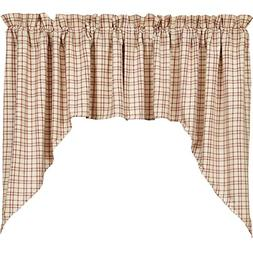 VHC Brands Rustic & Lodge Kitchen Window Curtains - Tacoma W