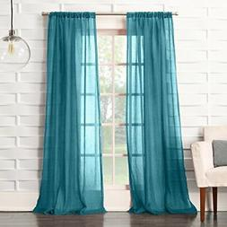 No. 918 Tayla Crushed Sheer Voile Rod Pocket Curtain Panel,