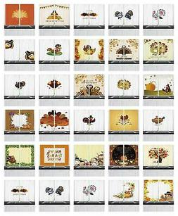Thanksgiving Kitchen Curtains 2 Panel Set Window Drapes 55""