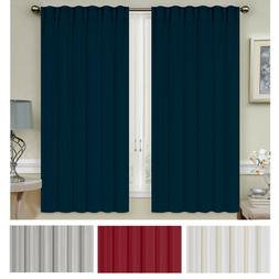 "Mellanni Thermal Insulated Blackout Curtains 2-Panel 52""x63"""
