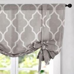 jinchan Tie Up Shade Moroccan Printed Paisly Curtains Rod Po