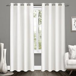 Exclusive Home Curtains Tweed Textured Linen Woven Blackout