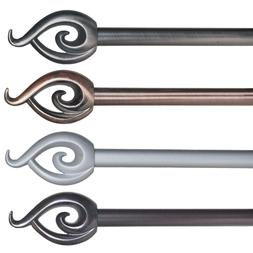 Lavish Home Twisted Sphere Metal Curtain Rod 62 to 144 Inche