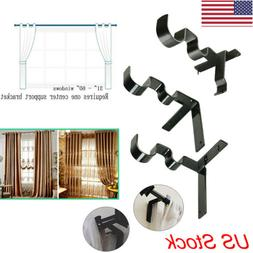 US Kwik Hang Double Center Support Curtain Rod Bracket Into