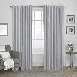 Exclusive Home Curtains Zeus Solid Textured Jacquard with Bl